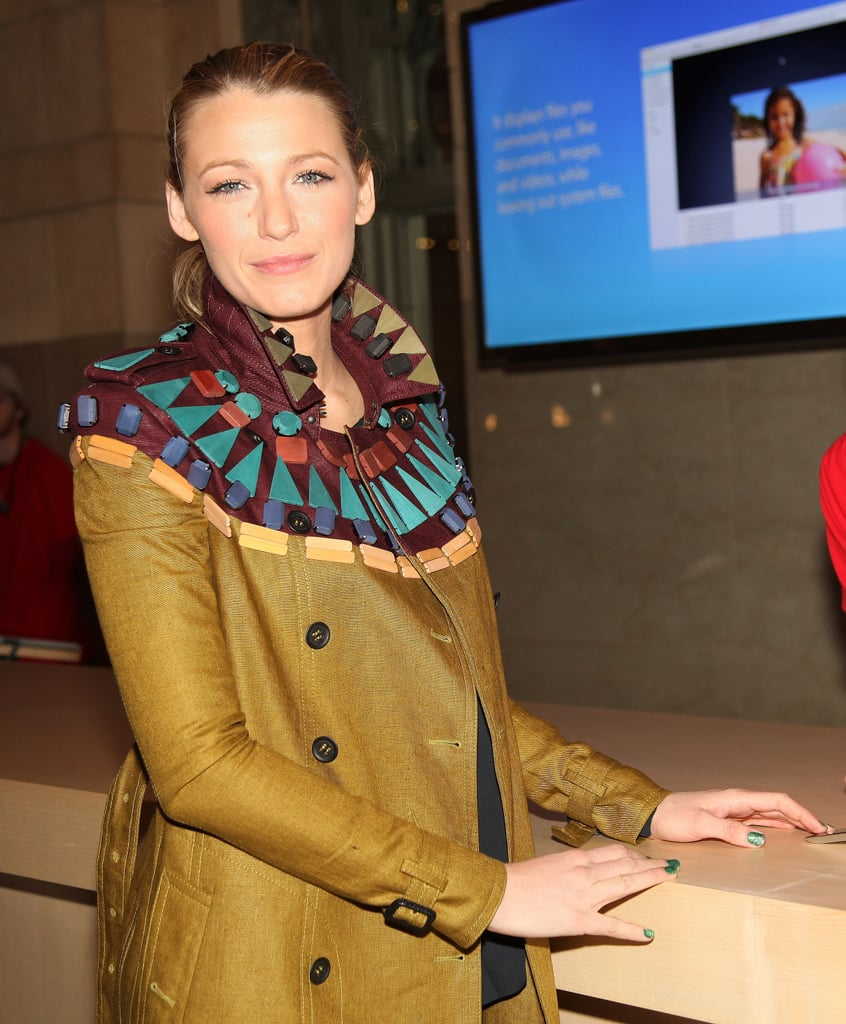 Blake Lively Makes a Solo Stop at Apple's New Grand Central Terminal Store