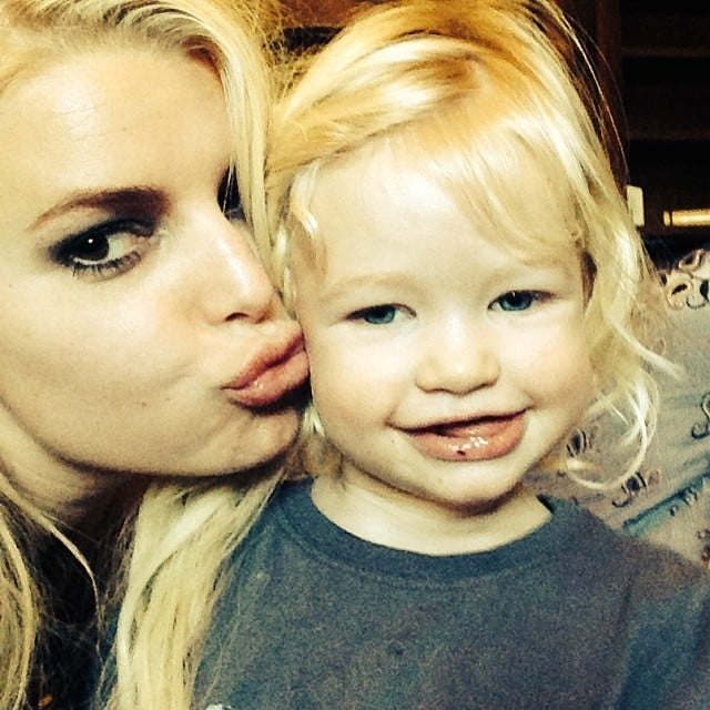 Jessica Simpson shared this precious snap of herself showing love to her daughter, Maxwell Johnson. Source: Instagram user jessicasimpson1111