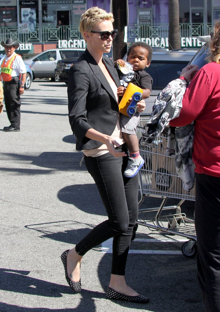 Charlize Theron Talks Shoes and Shops With Jackson