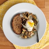 Sauteéd Mushrooms With Thyme and Poached Eggs