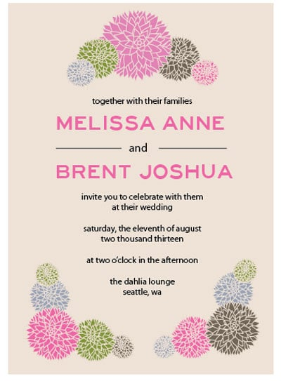 Dahlia Wedding Invitation