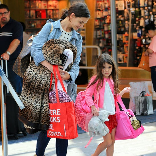 Katie Holmes and Suri Cruise Fly Out of NYC | Pictures