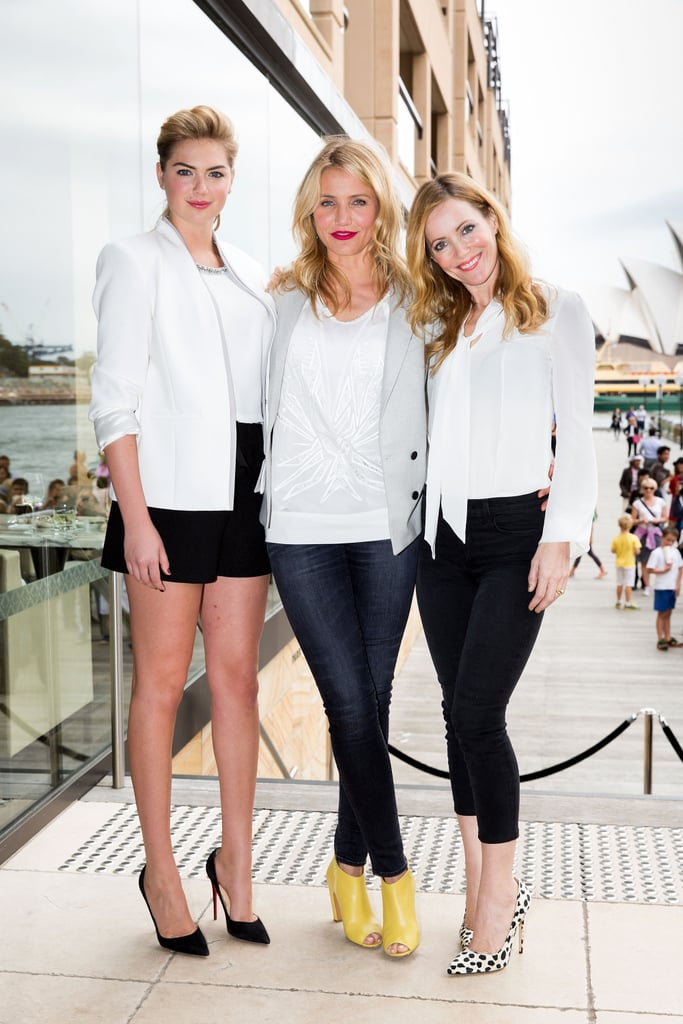 Kate Upton, Cameron Diaz, and Leslie Mann promoted The Other Woman in Sydney on Tuesday.