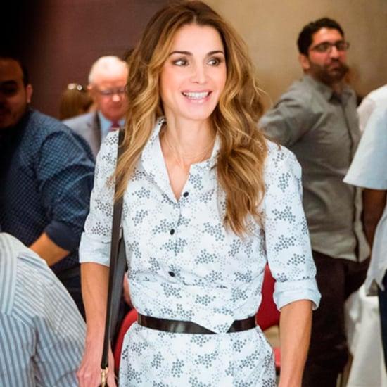 Queen Rania's Belted Shirtdress August 2016