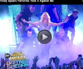 Video of Britney Spears Performing Songs From Femme Fatale on Good Morning America After Announcing North American Tour
