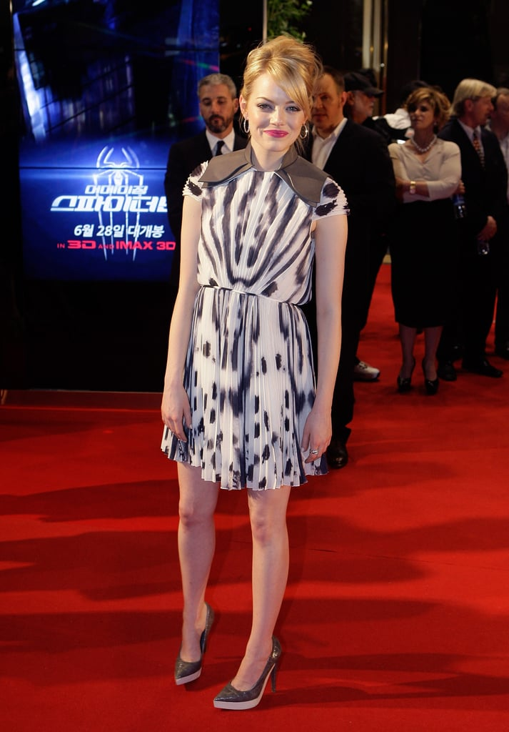 Emma Stone walked the red carpet solo.