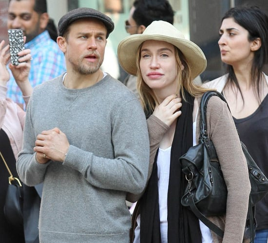 Charlie Hunnam in New York with girlfriend Morgana McNelis six weeks after defending her on Facebook