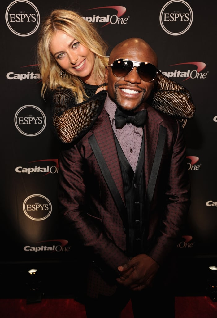Maria Sharapova towered over Floyd Mayweather at the 2014 ESPY Awards in LA on Wednesday.