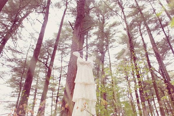 Dress Hung Among Trees