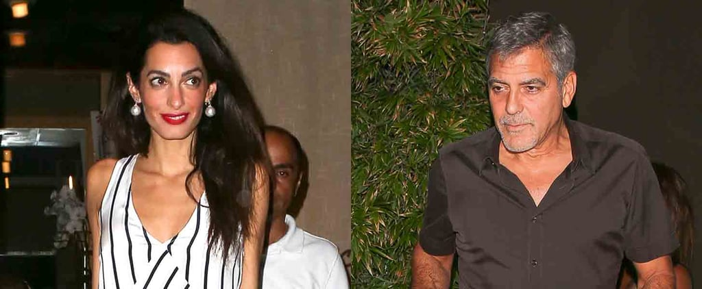 Amal Clooney Can't Stop Grinning During Her Night Out With George