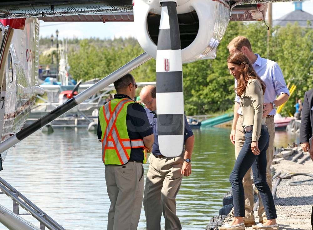 Prince William helped Kate Middleton hop on a seaplane.