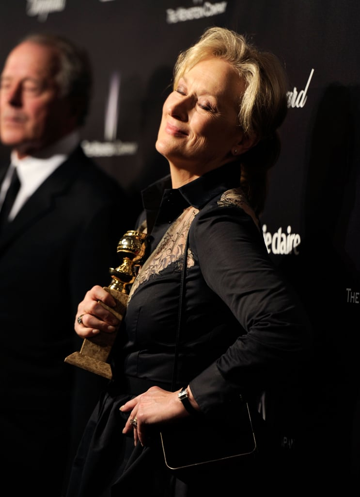 Meryl Streep at the Weinstein Company's 2012 Golden Globe after party.