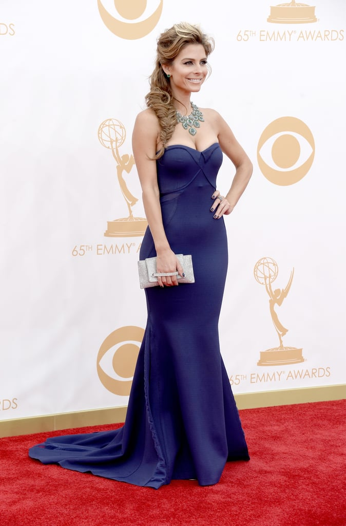 Maria Menounos on the red carpet at the 2013 Emmy Awards.