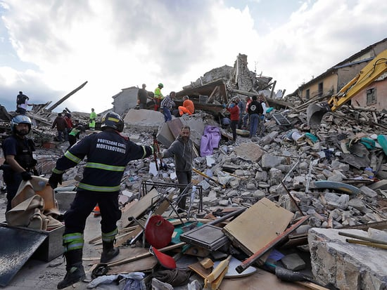 Celebrities Offer Their Support to Victims of the Deadly Italy Earthquake