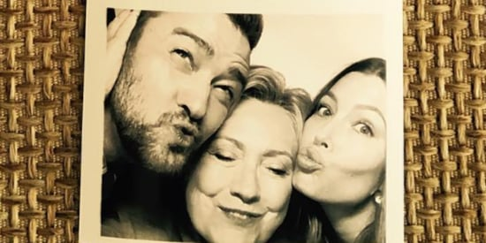 Justin Timberlake And Jessica Biel Took Over A Photobooth With Hillary Clinton