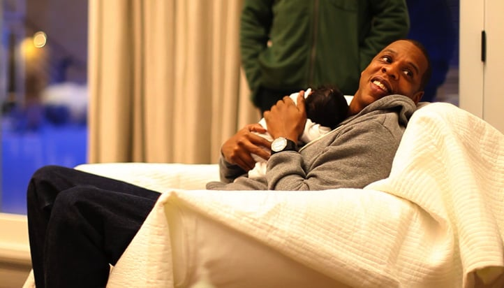 Jay-Z with his daughter Blue Ivy Carter.