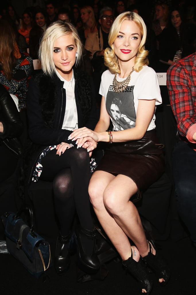 Ashlee Simpson and Jaime King sat front row for Rebecca Minkoff's Fall collection at New York Fashion Week in February.