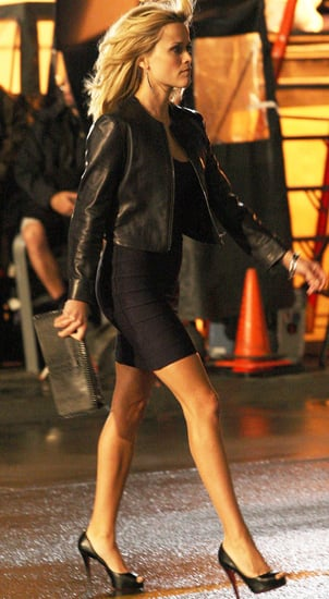 Pictures of Reese Witherspoon and Chris Pine Filming This Means War
