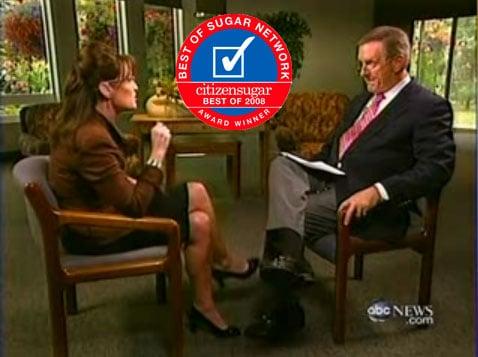 Favorite Sarah Palin Moment of 2008: Sarah Meets the Press