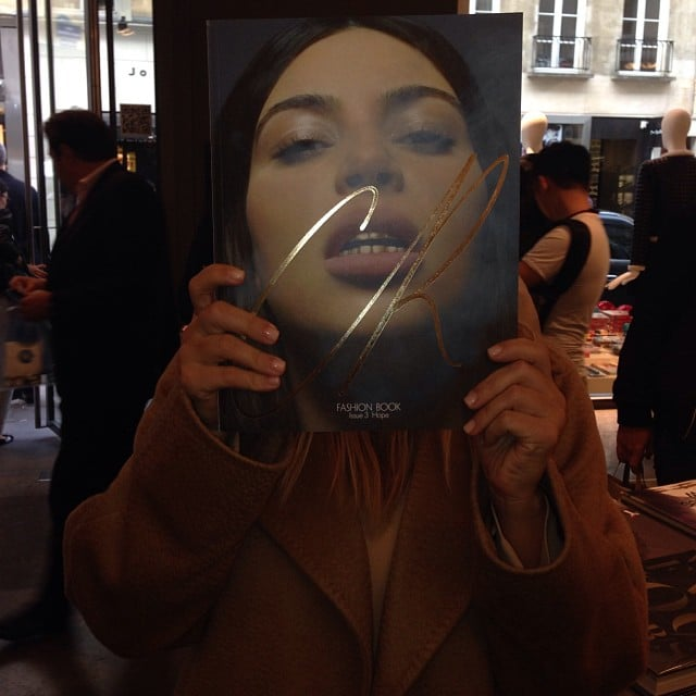 Kim Kardashian posed with her CR Fashion Book cover at a Collette store in Paris. Source: Instagram user kimkardashian