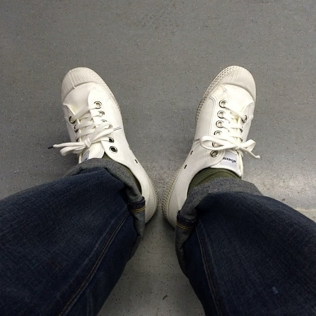 White Sneakers (With Light-Washed Jeans)