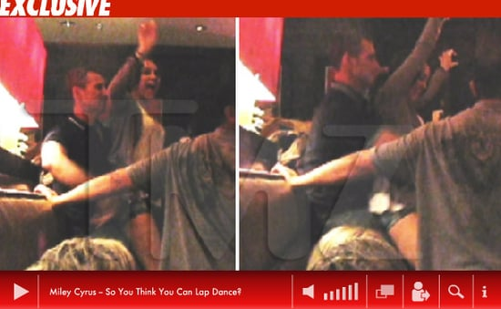 Video of Miley Cyrus Giving Adam Shankman a Lap Dance 2010-05-12 12:00:00