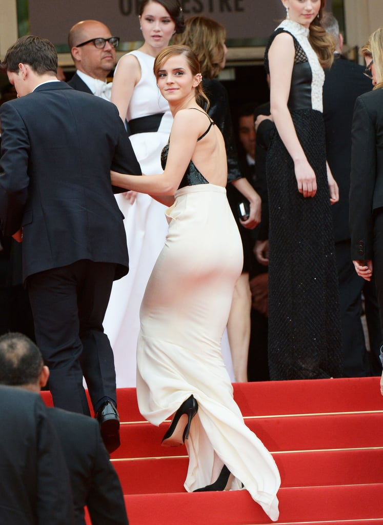 Emma Watson walked up the stairs at the Cannes Film Festival on Thursday to premiere her new film, The Bling Ring.
