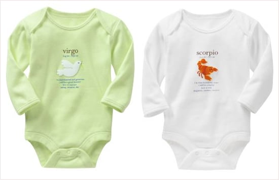 Baby Gap Zodiac Onesies