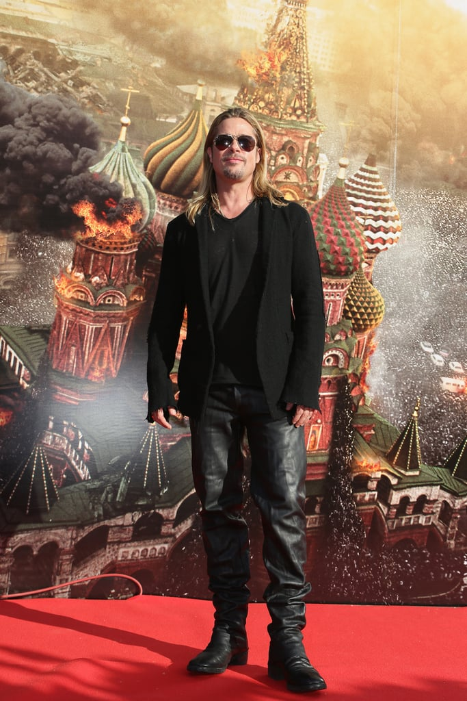 Brad Pitt hit the red carpet to promote World War Z in Russia.