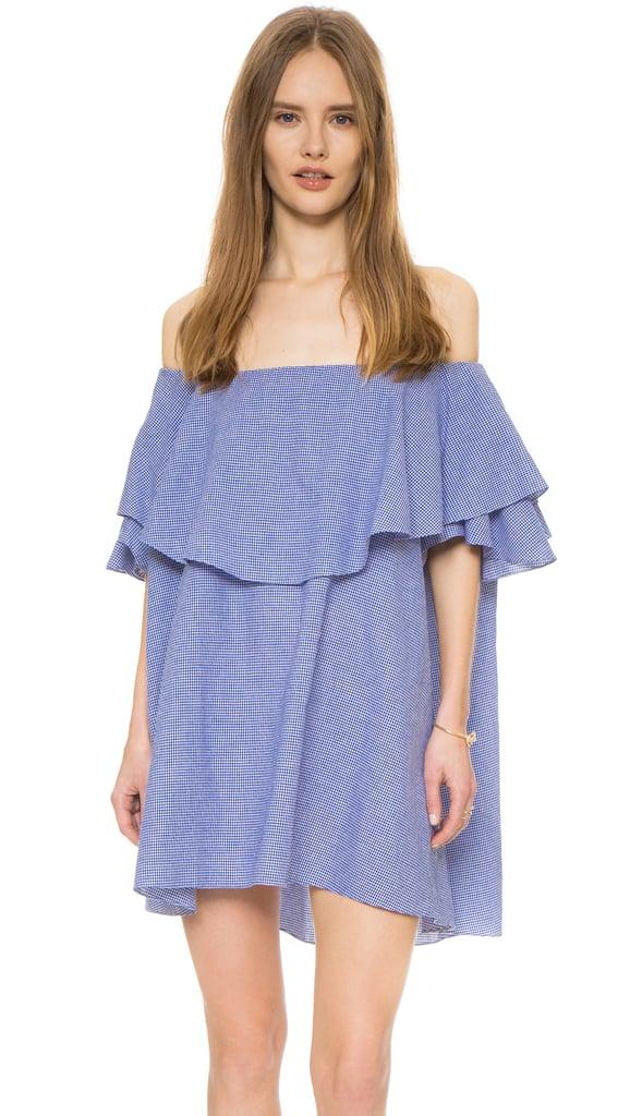 MLM LABEL Maison Off Shoulder Gingham Dress ($165)