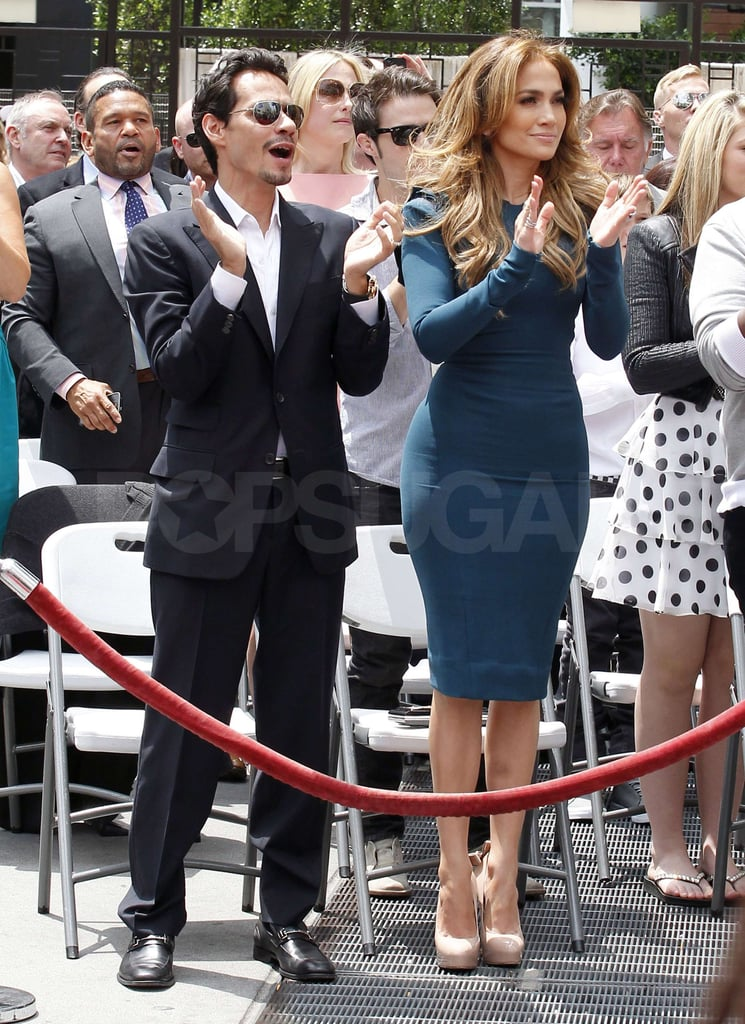 Victoria Beckham Celebrates Idol Mastermind Simon Fuller's Walk of Fame Star With J Lo