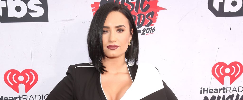 Demi Lovato Was Black and White and Fierce All Over at the iHeartRadio Music Awards