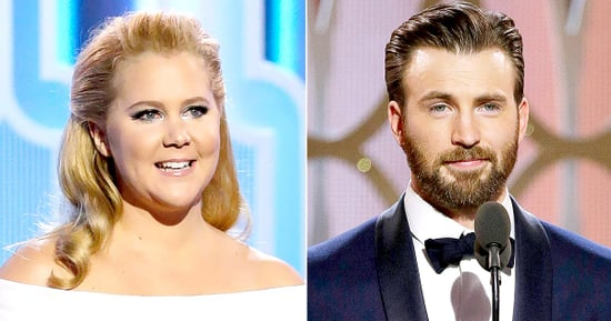 Golden Globes 2016 What You Didn't See on TV: Amy Schumer Cracks Up Chris Evans, Channing Tatum Bros Out With Casper Smart and M