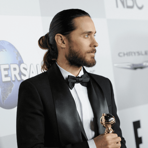 Jared Leto's Half Bun at the 2014 Golden Globe Awards