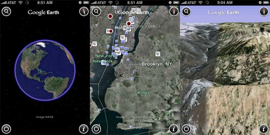 Daily Tech: Google Debuts a Slick Google Earth For the iPhone