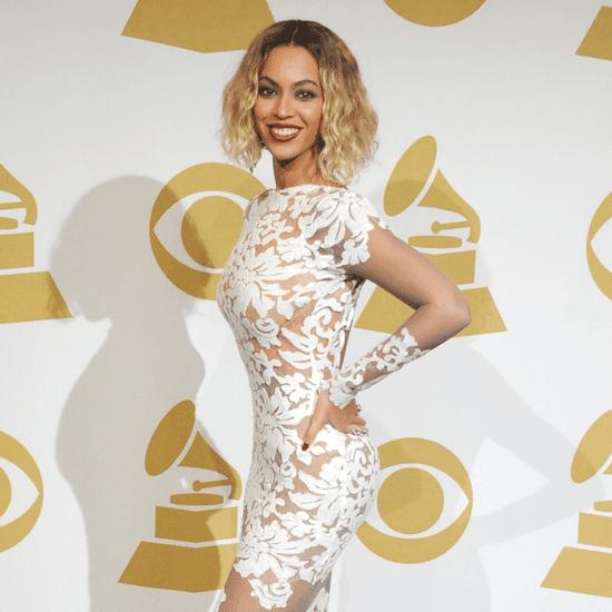 Beyonce's Grammy Dress 2014 as Nail Art | Tutorial