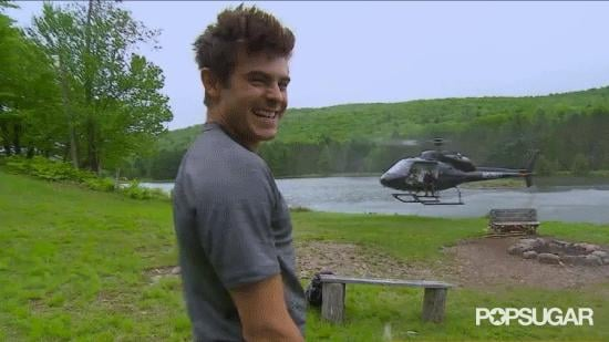 When He Reacts Like This to Bear's Helicopter
