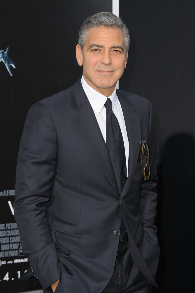 George Clooney attended the premiere of Gravity in NYC.