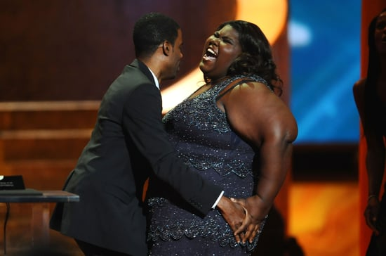 Chris Rock Grabs Gabourey Sidibe's Butt
