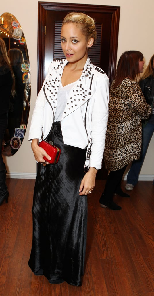 Nicole Richie at Milk Studios pop-up shop in LA.