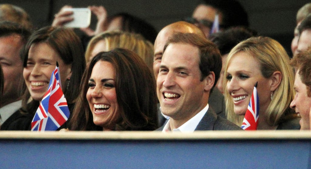 Zara sat near her cousin Prince William and his wife, Kate, at the Diamond Jubilee concert at Buckingham Palace.