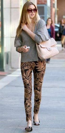 Photo of Whitney Port Wearing Jungle Print Leggings in LA 2009-11-18 15:00:22