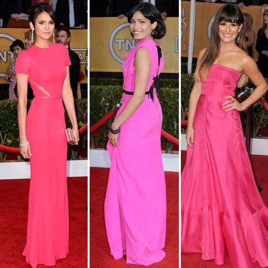 SAG Awards 2013 Red Carpet Pink Dress Trend