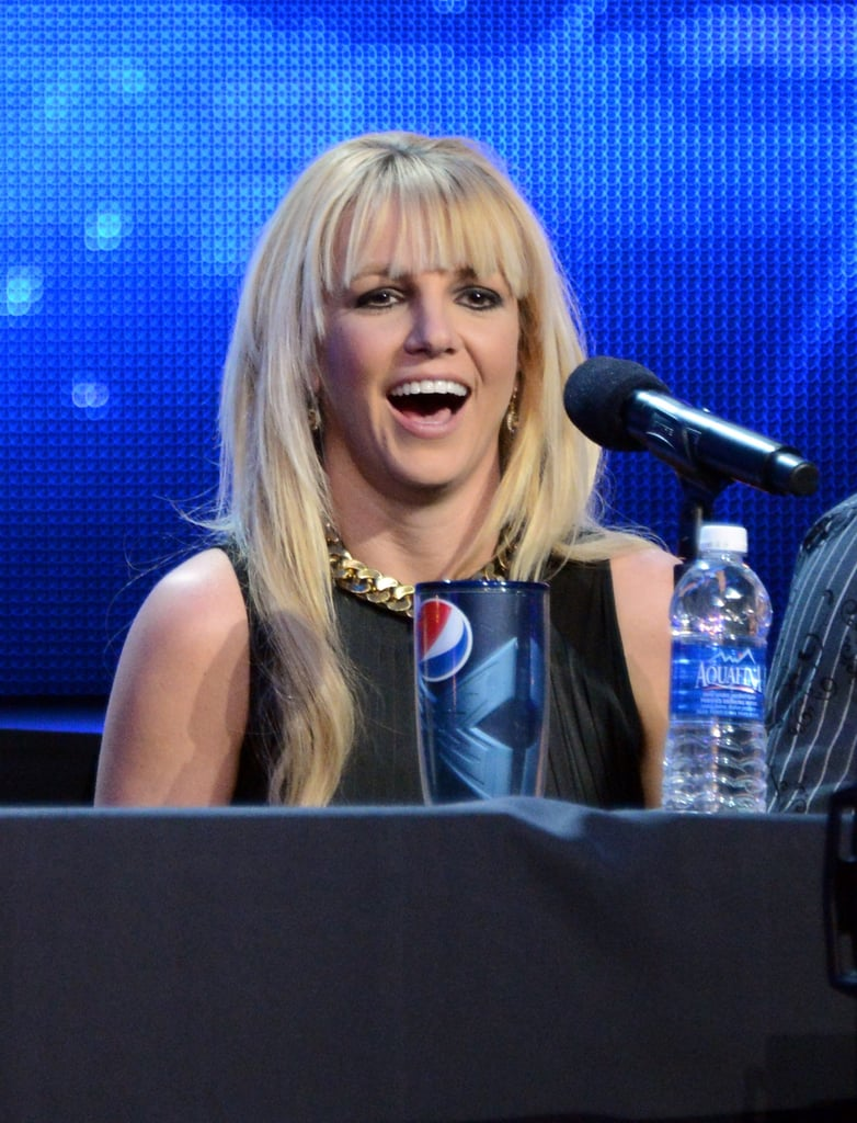 Britney Spears talked about the X Factor finale.