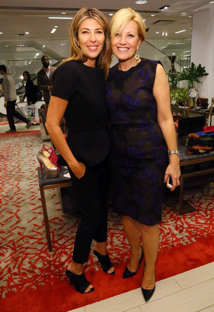 Nina Garcia joined Nancy Berger Cardone for Marie Claire's shoe shopping event at Saks Fifth Avenue.