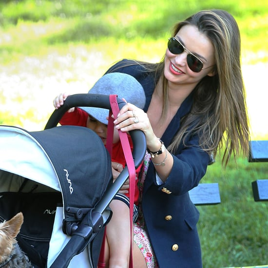 Miranda Kerr With Son Flynn and Dog Frankie in Sydney Park