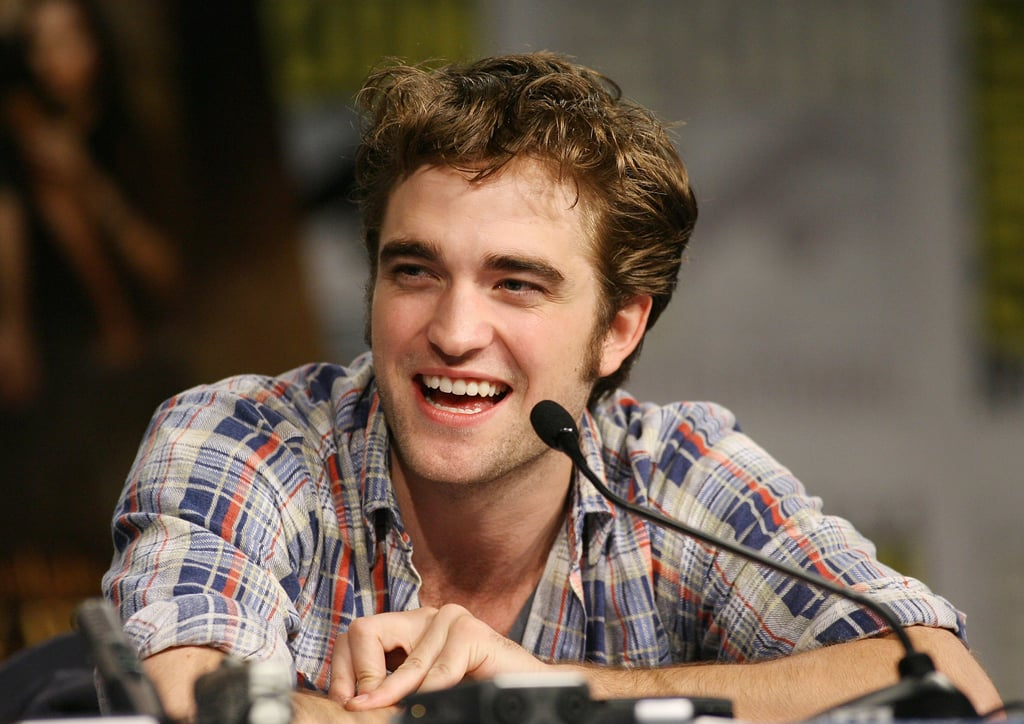 Robert Pattinson was all smiles during a New Moon press conference in 2009.