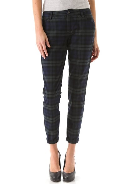 Here in the Sugar NYC office, we're all a bit plaid obsessed at the moment. So, it certainly didn't help things when we spotted Kristen Stewart sporting a pair of Juicy Couture plaid pants. While I love hers, I am currently eyeing this more-relaxed, cuffed at the ankle flannel iteration by Joe's Jeans ($179). I'd style them with my black ankle boots and an oversize knit sweater, simple but cute. — Marisa Tom, associate editor