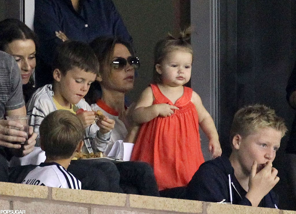 Harper Beckham was with her mother, Victoria Beckham, in LA.