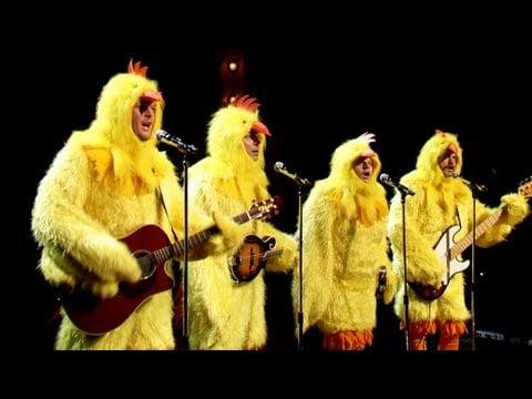 "The Chickeneers Sing ""Ho Hey"""